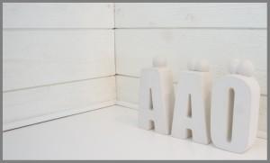 Specialtillverkade bokstäver åäö
