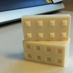 Sydsten miniatyrer till betongblock plansilos