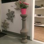 Stor gjutform pedestal