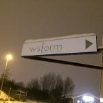 Skylt från Kolfallsgatan till WS Form