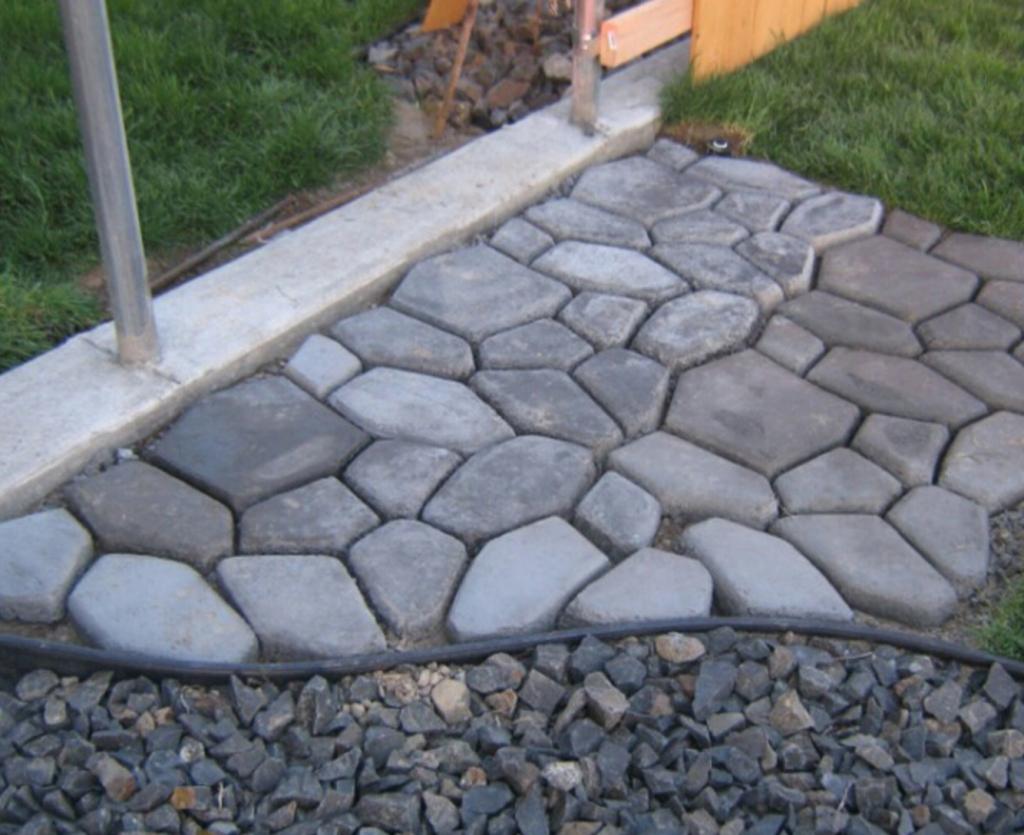Gjuta betong trädgård nät