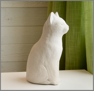 Latexform sittande katt